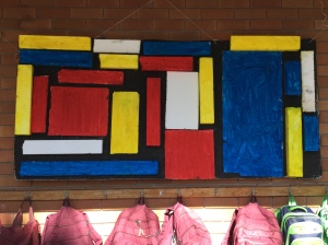 "KB's recreation of Piet Mondrian's ""Basic Elements."""