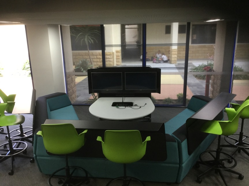 This is a photo I took whilst on a school tour at St. Stephen's College, Coomera. It is the same layout as the space in which Joel Speranza ran his workshop.